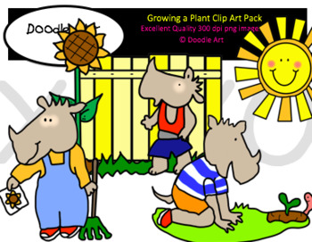 Growing a Plant Clipart Pack.