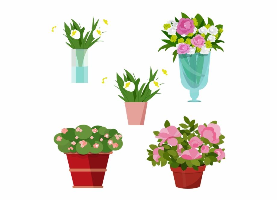 Vase Vector Plant Transparent Flower Vase Vector.