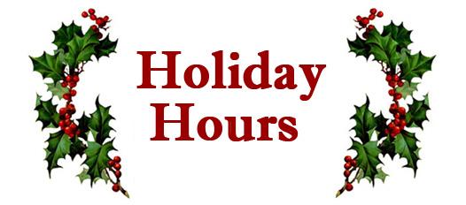 Holiday Closures.
