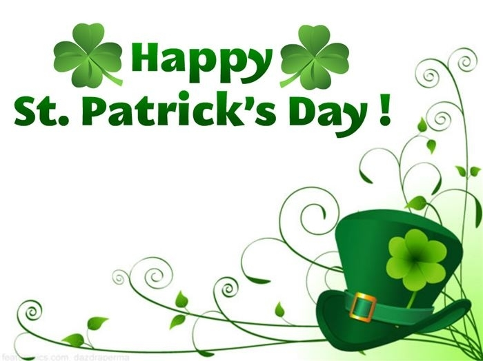 School Closure: St. Patrick's Day Friday March 17th.