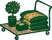 Clip Art of Potted Plant potplant.