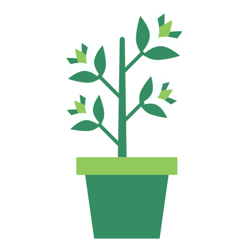 Green flowerpot with plant clipart.