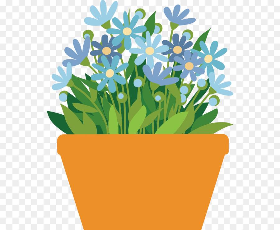 Flower Pot Drawing clipart.