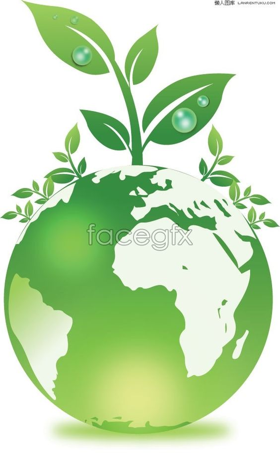 A green earth environmental protection and plant vector.