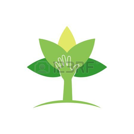 Plant Protection Creative Symbol Concept. Modern Agricultural.