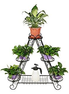 Amazon.com: Dazone® Metal Cart Flower Rack Display Garden Tree.