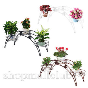 Arch Metal Potted plant Stand Wrought Iron Indoor Yard Garden.