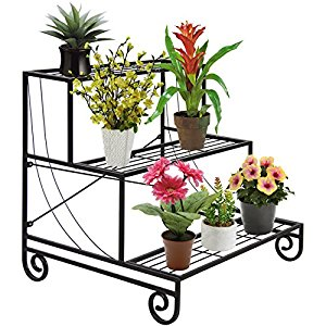Amazon.com : Best Choice Products 3 Tier Metal Plant Stand.