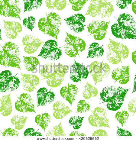 Seamless Vector Pattern Herbal Summer Green Stock Vector 420525652.