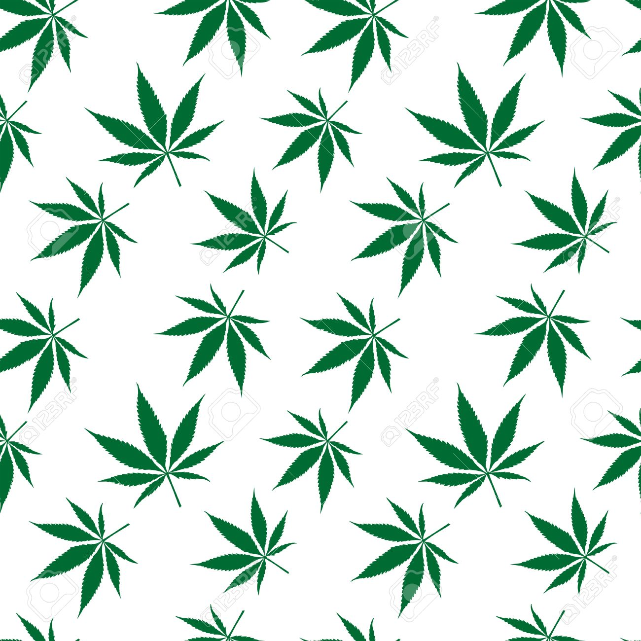 Cannabis Seamless Pattern Extended, Abstract Texture, Art.
