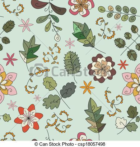 EPS Vectors of plant texture of futuristic fantast.