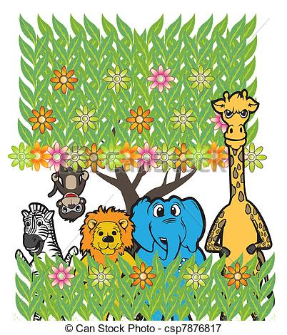 Vectors Illustration of Animal Group.
