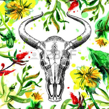 283 Bull Plant Stock Vector Illustration And Royalty Free Bull.