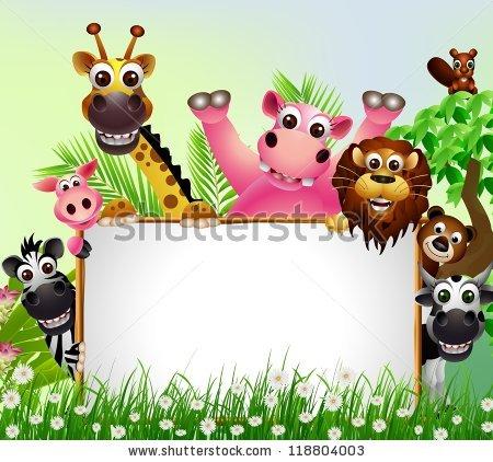 Cartoon Animals Stock Images, Royalty.