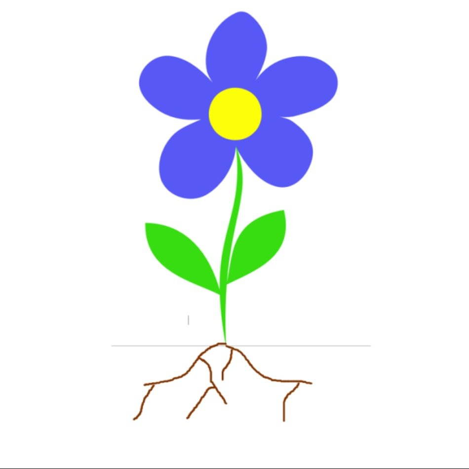 Flower Plant With Roots Panda Free Images clipart free image.