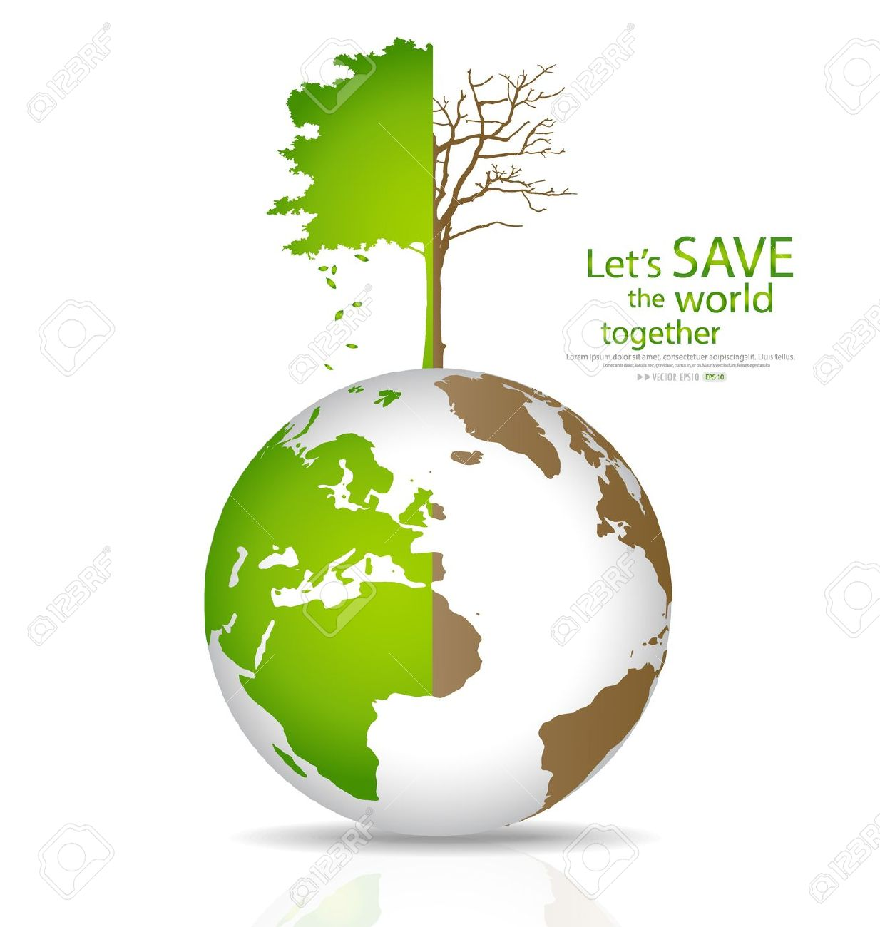 Plant trees save earth clipart.