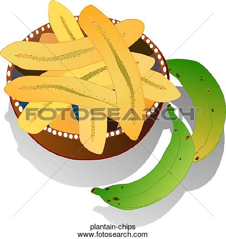 Cooked plantain clipart.