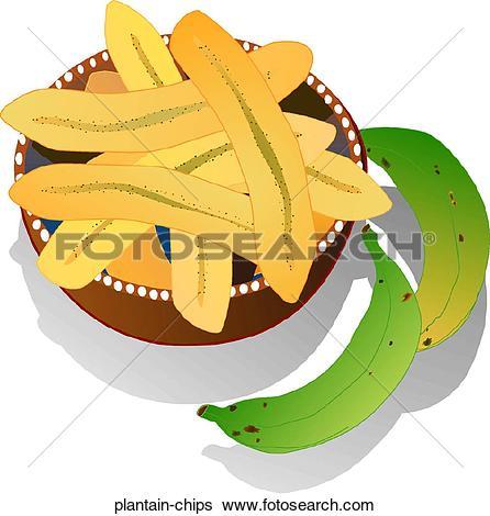 Clip Art of Plantains plantai2.