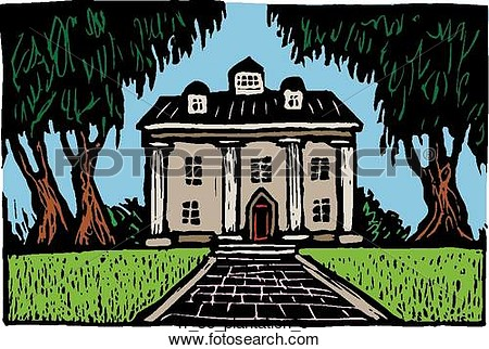 Plantation house clipart.
