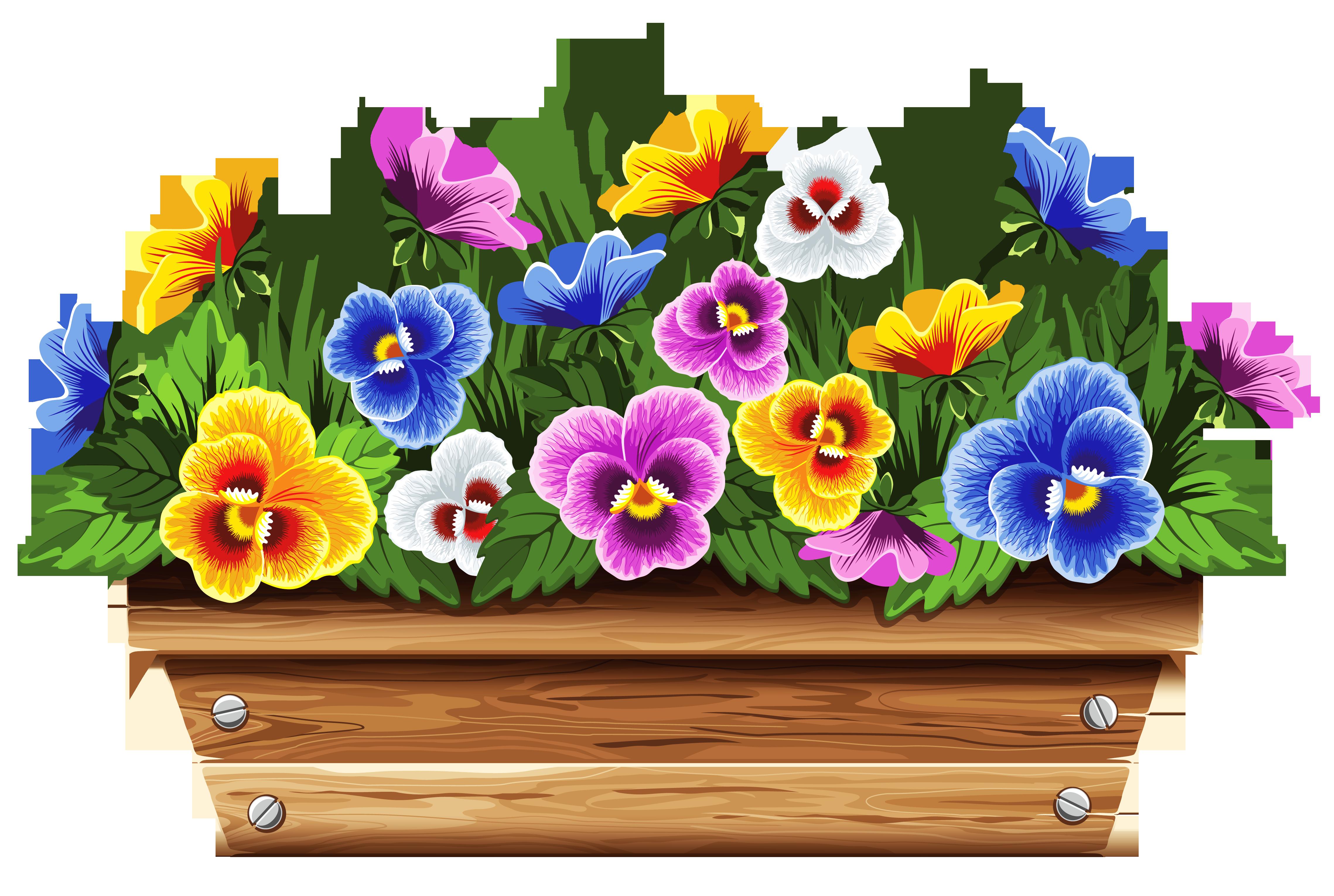 Flower Box Clipart.
