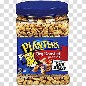 New DISCULPA, Planters dry roasted peanut jart transparent.