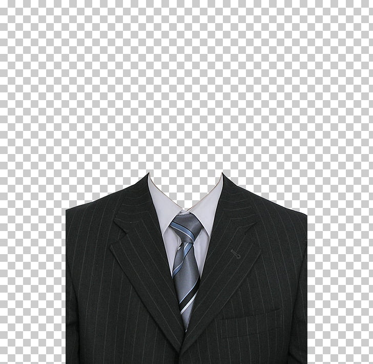 Traje de traje, traje negro, chaqueta de traje de solapa con.
