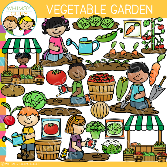 Vegetable Garden Clip Art.