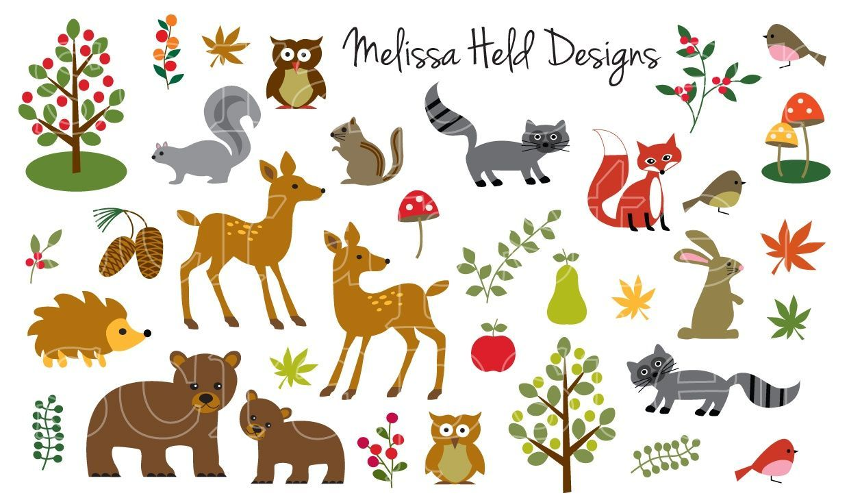Woodland Animals Clipart.