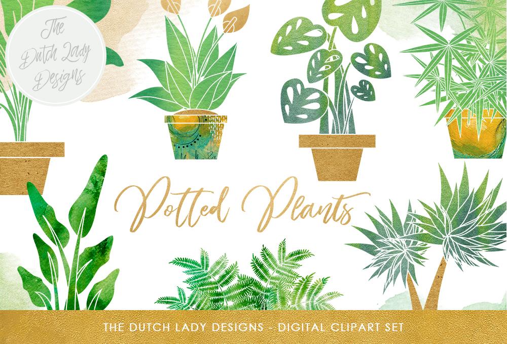 Plants Clipart Set.