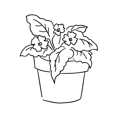 Plants clipart black and white 2 » Clipart Station.
