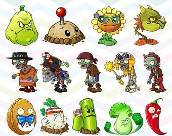 Plants Vs Zombies Clipart.