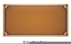 Brass Plaque Clipart.