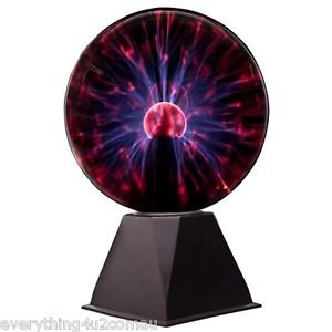 LARGE 8 INCH 20CM PLASMA BALL PARTY DISCO LIGHT LAMP NIGHT.