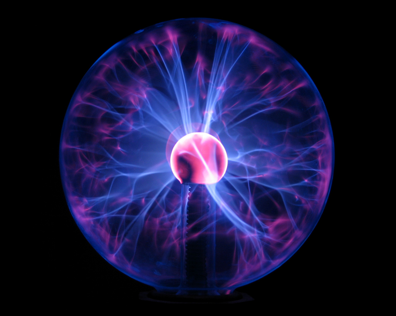 Blue Plasma Ball.