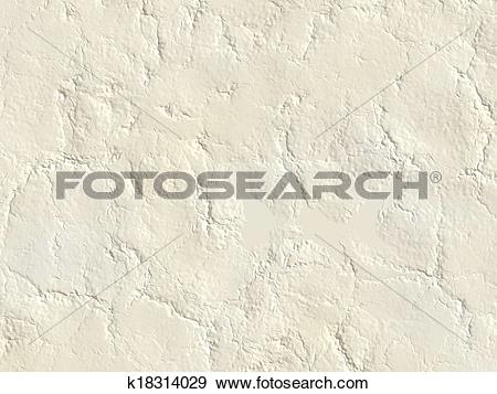 Stock Illustration of old cracked relief plaster texture k18314029.