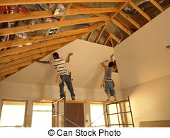 Plasterboard Images and Stock Photos. 1,413 Plasterboard.