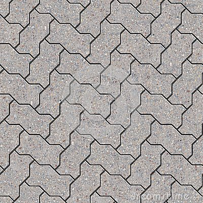 Paving Slabs. Seamless Tileable Texture. Royalty Free Stock Image.