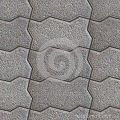 Grainy Paving Slabs. Seamless Tileable Texture. Stock Images.