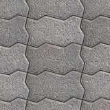 Paving Slabs. Seamless Tileable Texture. Royalty Free Stock Images.