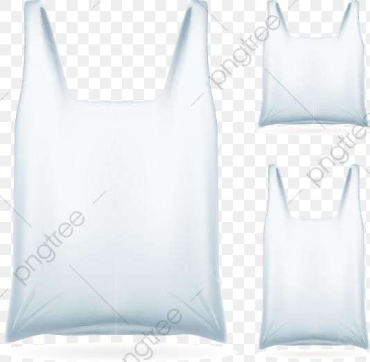 3 White Plastic Bag Design Vector Material, White Plastic.