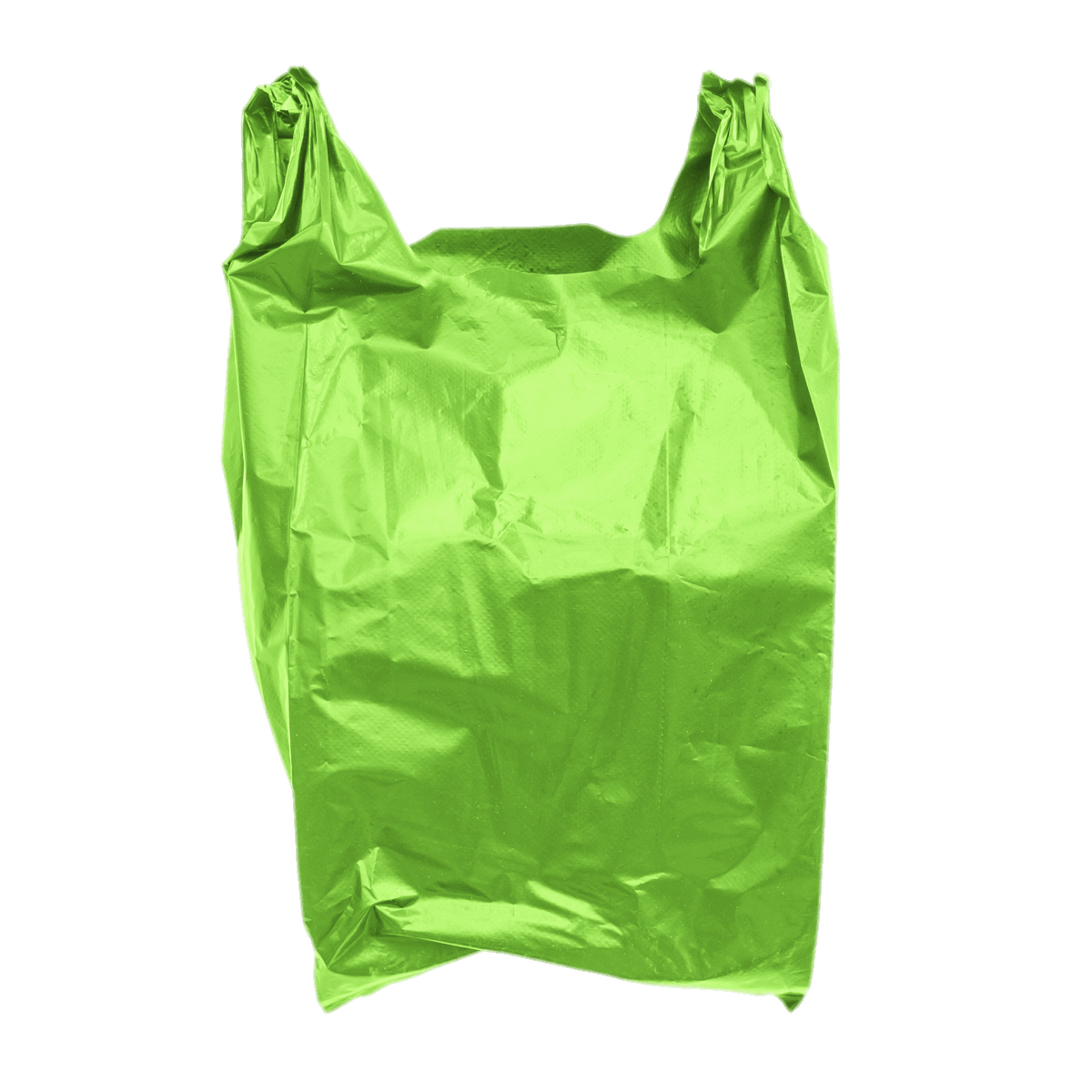Plastic Bag Green transparent PNG.