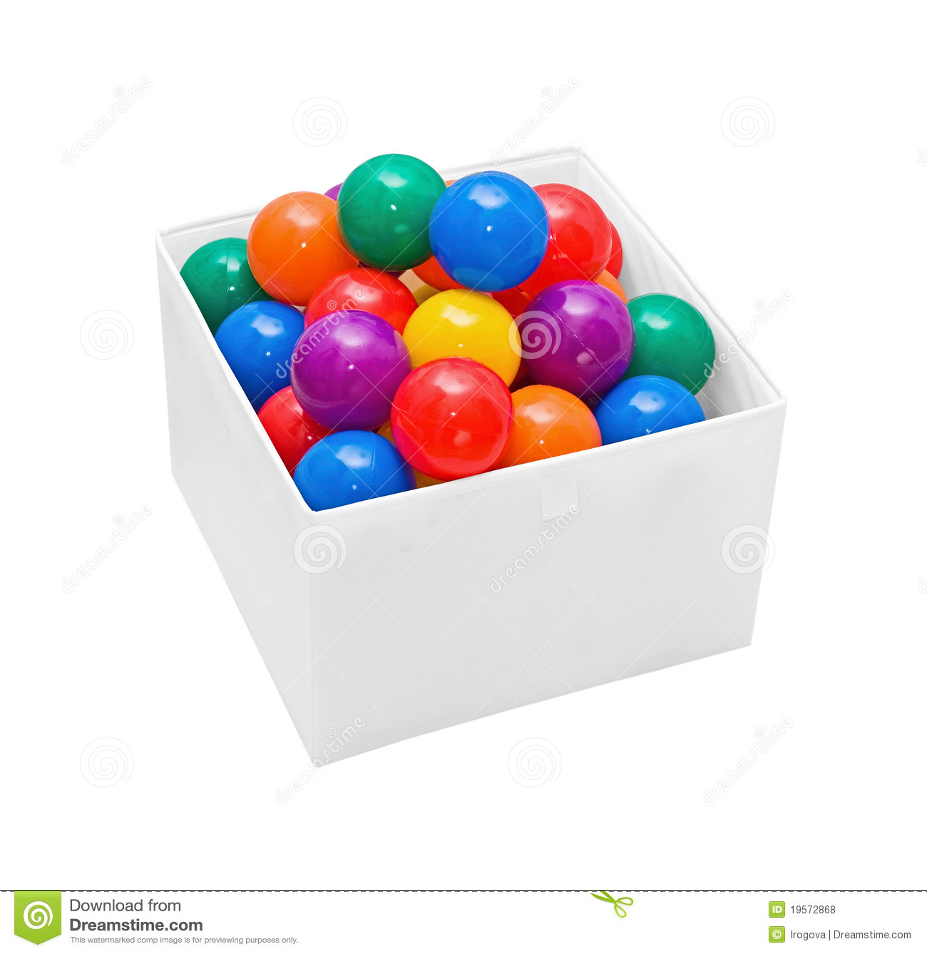 Ball box clipart.