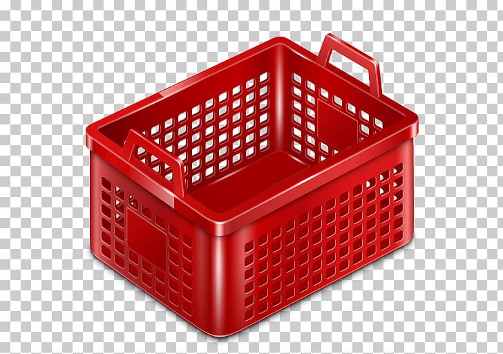 Storage basket red plastic, Basket empty, of red basket PNG.