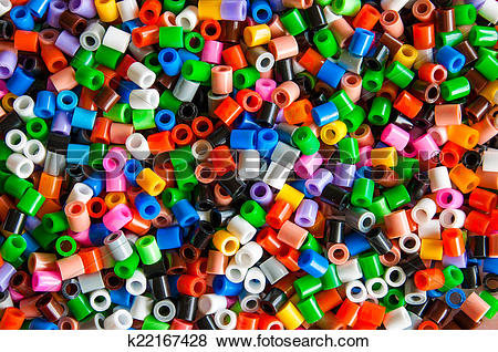 Pictures of multicolored plastic hama beads toy k22167428.