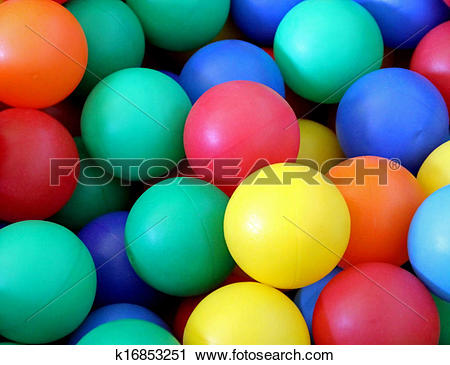 Stock Photography of colored plastic beads green red yellow and.
