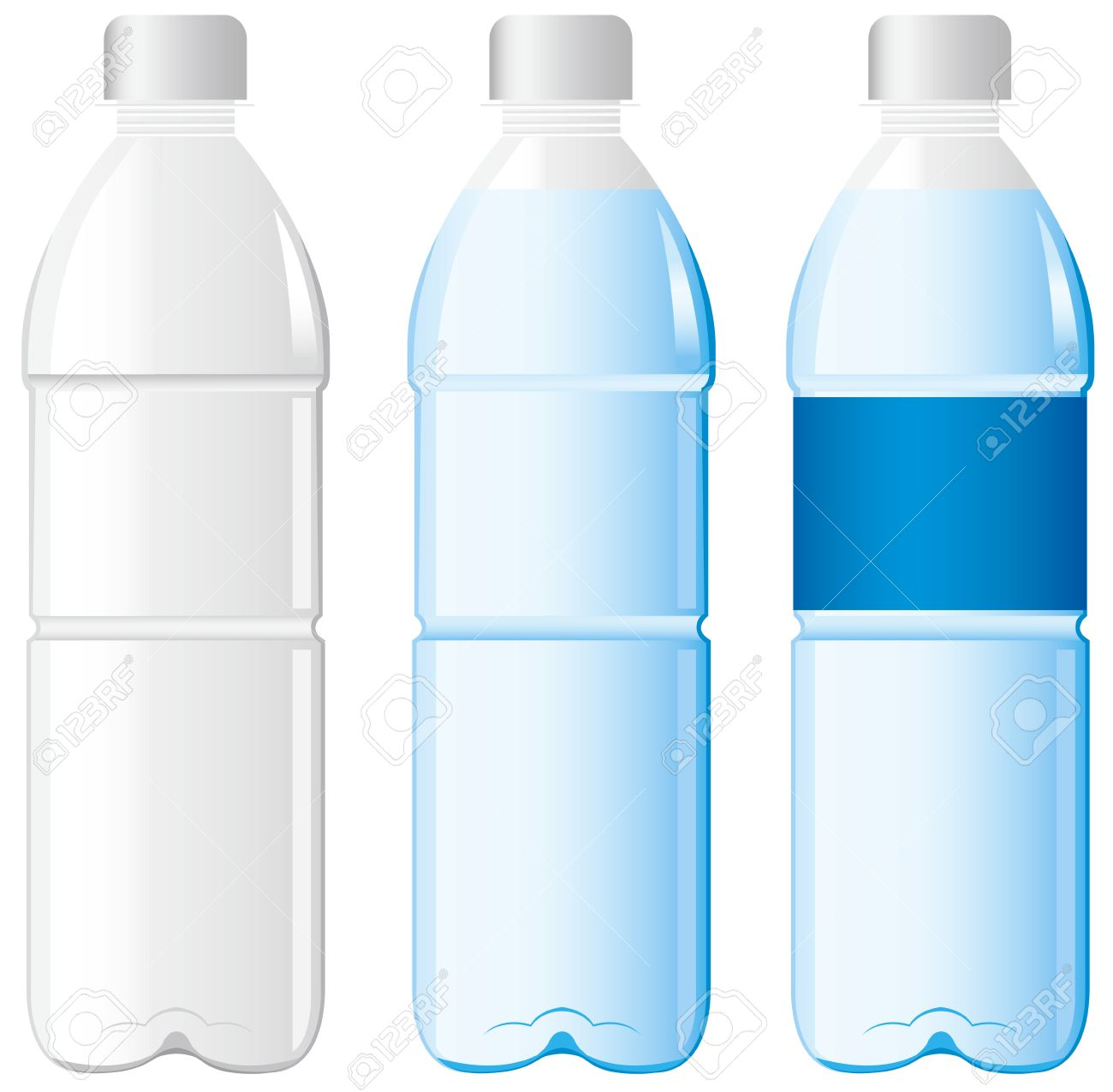 Plastic bottles clipart - Clipground