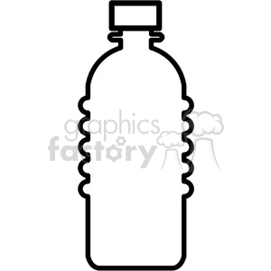 blank water bottle icon clipart. Royalty.