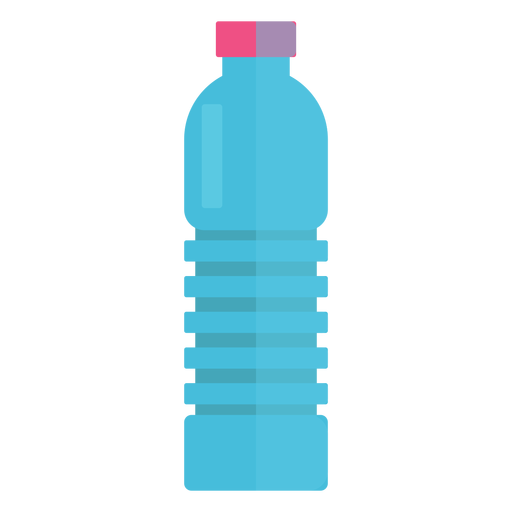Plastic bottle of water icon.
