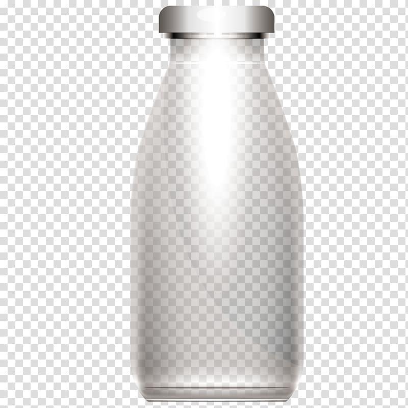 Blue and grey bottle illustration, Water bottle Glass bottle.