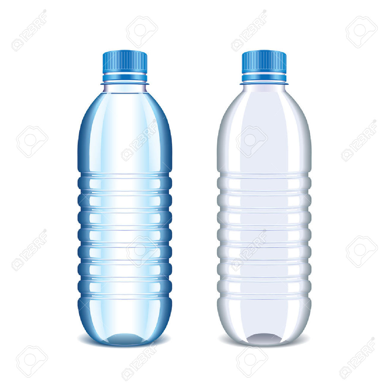 Plastic Bottle For Water Isolated On White Royalty Free Cliparts.